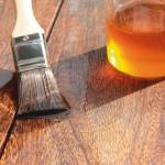 обработка дерева маслом