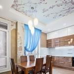 Какие натяжные потолки для кухни бывают?