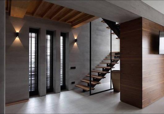 бетон в дизайне интерьера