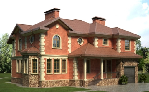 Ремонт фасада кирпичного дома