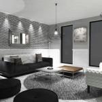 Обустройство квартиры в серо-белом настоящем интерьере жилья