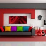 Бодрящий, красочный интерьер квартиры