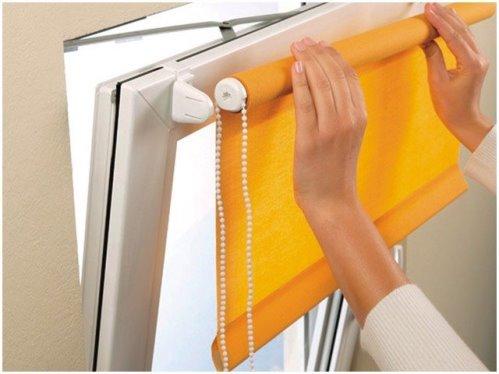Как правильно установить рулонную штору