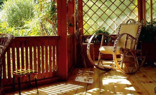 Традиционная деревянная терраса