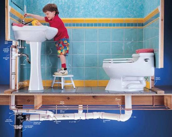 Установка сантехники в доме