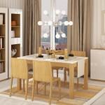 Столовая в гостиной — как подобрать мебель