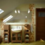 Ванная комната на чердаке — дизайн интерьера